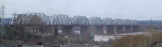 Brücke über die Kama bei Perm