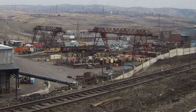 Industriebetrieb in Sibirien