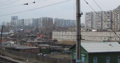 Plattenbauten in Krasnojarsk