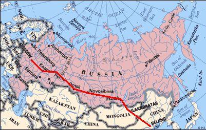 Eine Fahrt mit der Transsibirische Eisenbahn
